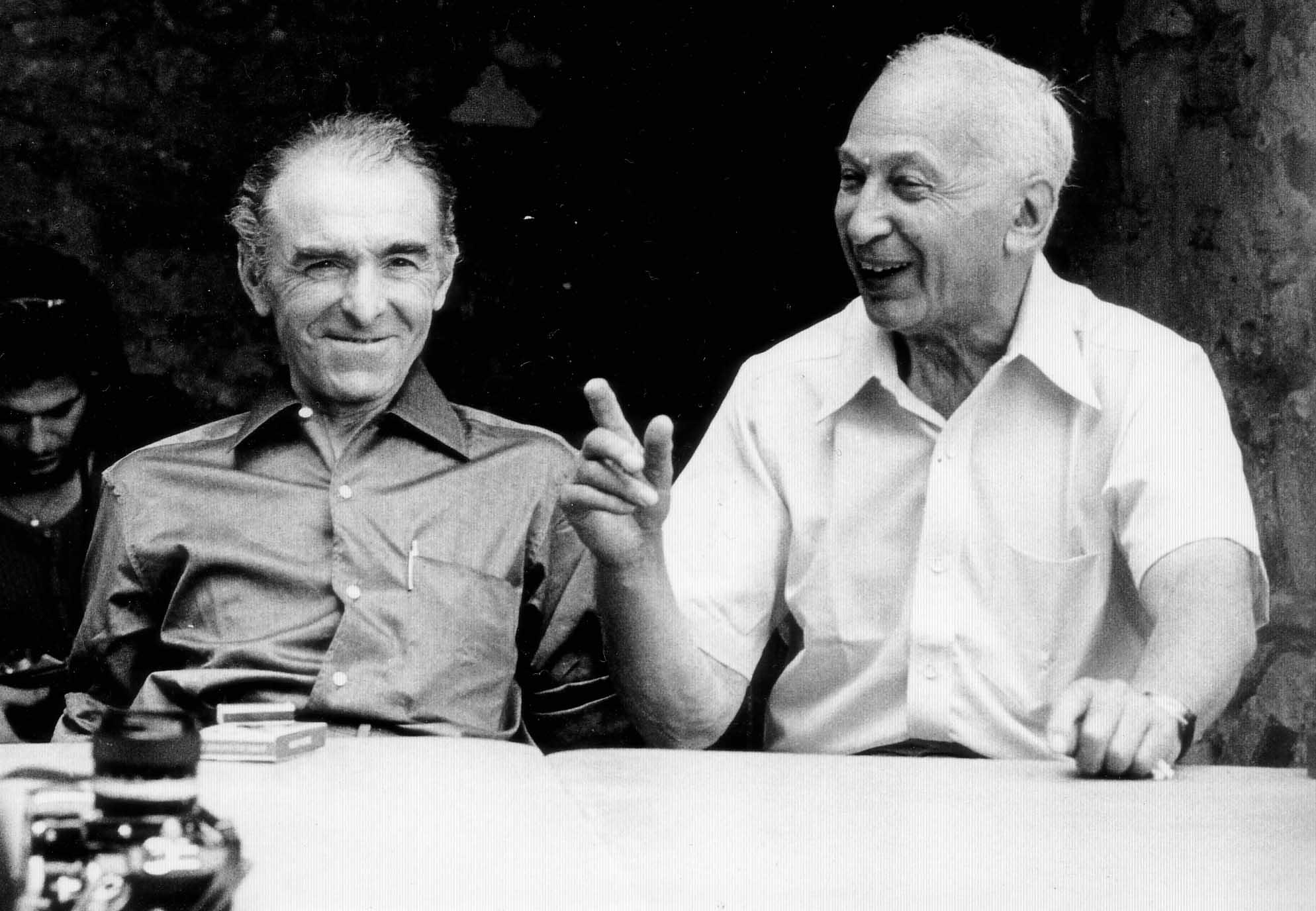 Robert Doisneau e André Kertész. 1975