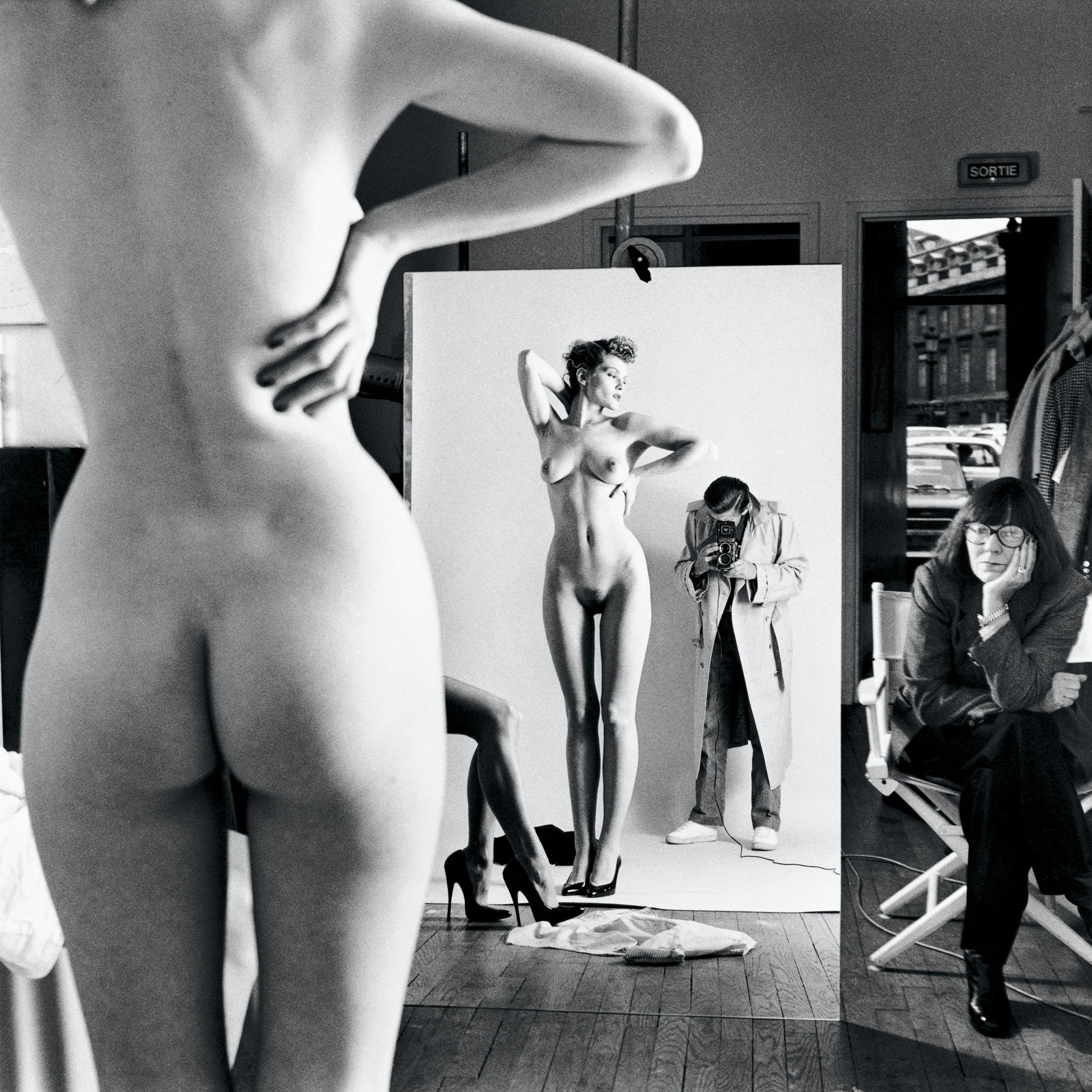 Self-Portrait with Wife and Models, Vogue Studio, Paris 1981 © Helmut Newton Estate